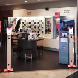 Borne distributeur de gel à pédale magasin 01