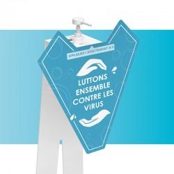 Borne distributeur gel personnalisable zoom