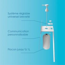 Borne distributeur gel personnalisable technique